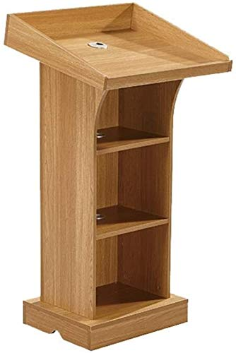 JCCOZ - URG Home Accessories Standing Lectors Podium Modern Minimalist Panel Podium Director Reporting Stage for Meetings URG