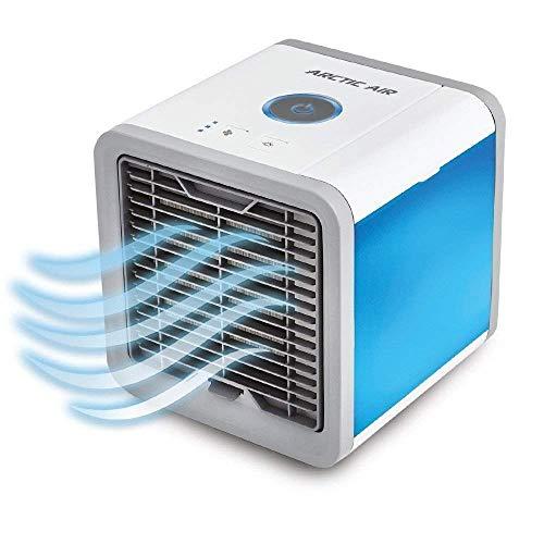 Raffreddatore d'aria mobile per dispositivo mobile USB, 3 in 1 Condizionatore d'aria portatile mini USB, umidificatore, purificatore a 7 colori