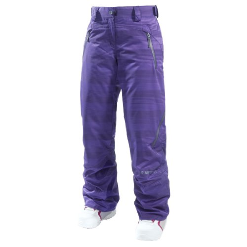 ZIENER AVANTGARD Gr. XS Damen Skihose Snowboardhose dark purple stripe
