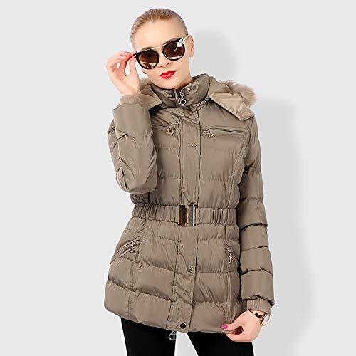 KOUPNLTM Vrouwen Retro Slim Parkas Vintage Warm Vrouwen Winter Jas Elegante Hooded Outwear