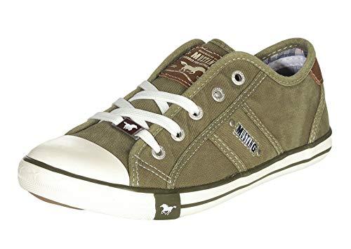 MUSTANG Damen 1099-302 Sneaker, Grün (Khaki 777), 41 EU