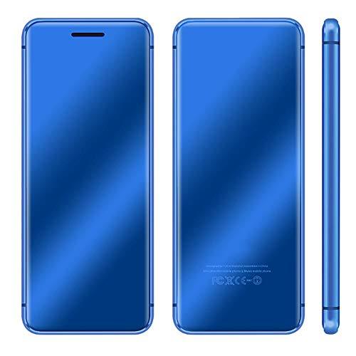 Bewinner1 Teléfono Inteligente para Estudiantes, Mini teléfono Ultrafino de 4.7 Pulgadas, teléfono Celular con Pantalla táctil de Doble Ranura para Tarjeta, multifunción con Gran Capacidad (Azul)