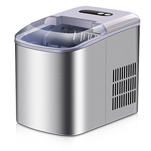 Portable Ice Maker - Stainless Steel Countertop Ice Maker Machine, Get 9 Ice...
