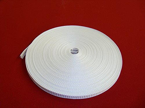 Easy-Shadow – Rolladengurt Breite 23 mm x Länge 50 m - weiß extrem Gurt für Rollladen Gurtband 50 Meter Gurtzugband Zugband für Rolladen Rolladenwickler Aufzuggurt Minigurt Gurtzug Gurtzugband - weiß