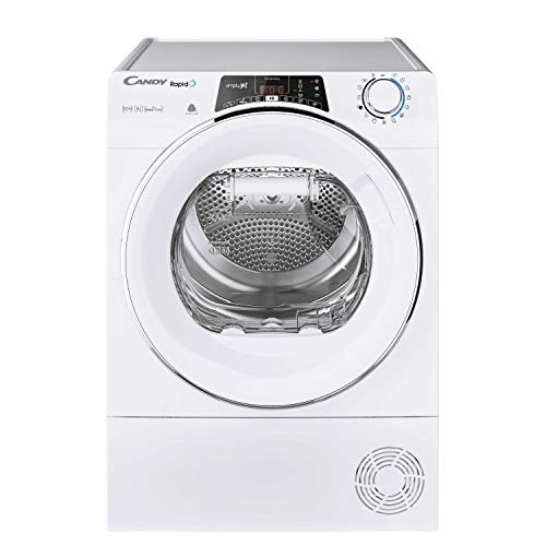 Candy RO H10A2TCE Freestanding Rapido Heatpump Tumble Dryer, WiFi Connected, 10kg Load, White