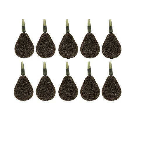 BZS Karpfen Angeln Gewicht Inline Flache Birne Glatt und strukturiert erhältlich in 1 Unze 1,5 Unzen 2 Unzen 2,5 Unzen 3 Unzen 3,5 4 Unzen 5 Unzen 6 Unzen (Packung mit 10 Stück) (2.50)