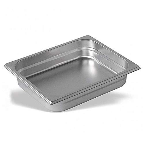 Cubeta Acero Inoxidable GN Gastronorm 1/2 (Profundidad 60mm) (Dimensiones 325x265mm) · Esquinas Redondeadas · Resiste hasta 260 ºC