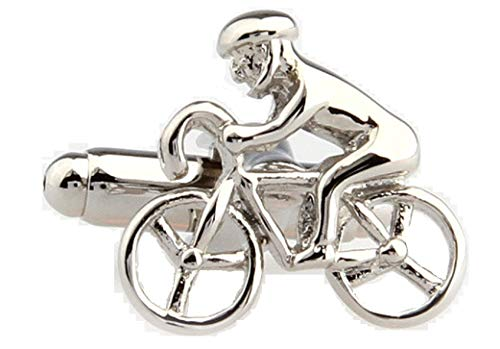 MRCUFF Presentation Gift Box Bicycle Bike Rider Cycling Cyclists Pair Cufflinks & Polishing Cloth