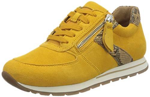 Gabor Damen Comfort Basic 46.369 Sneaker, Gelb (Mango/Camel 22), 44 EU