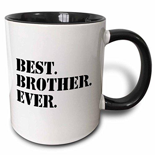 3dRose Best Brother Ever Mug, 11 oz, Black