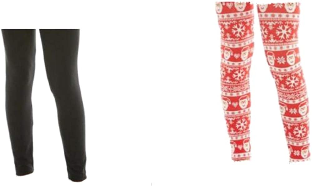 One Step Up Girls (2) Pcs Winter/Christmas Leggings - Solid/Pattern