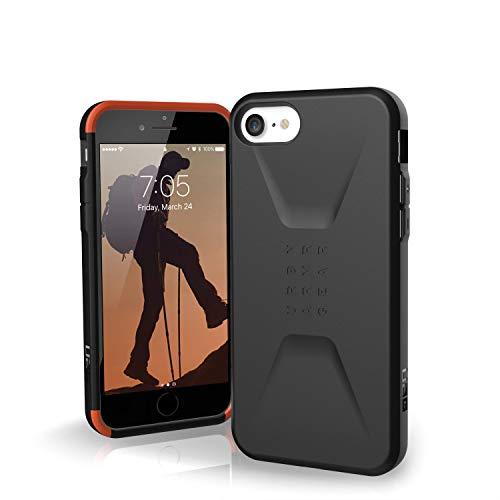 Urban Armor Gear Civilian Funda para Apple iPhone SE (2020) / 8 / 7 / 6S Cubierta protectora (Compatible con la carga inalámbrica, Resistente a los choques, Parachoques ultra delgado) - Negro