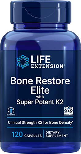Life Extension Bone Restore Elite with Super Potent K2 - Clinically...