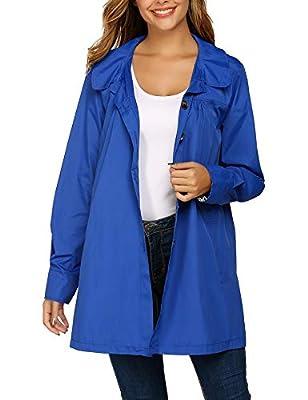 Beyove Womens Rain Jacekt Lightweight Waterproof Outdoor Hooded Raincoat
