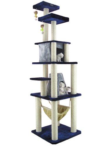 Armarkat Großer Kratzbaum/Katzenbaum AC8301P 210 cm hoch mit Hängematte