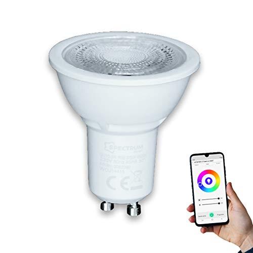 Lamparas LED Smart GU-10 5W RGB (Dicroica)