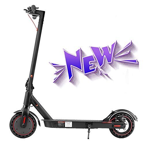 LORERAN Electric Scooter Adult, E-Scooter Elektroroller 8.5'' Foldable Elector Scooter 25km/h Pendler Elektroroller 350W Wasserdichter Elektroroller 7.8AH mit LED-Anzeige (Black)