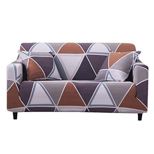 Sofabezug Stretch Stoff Elastisch Stuhl Sofa Bank Sofa Abdeckung Möbel Schutz Home Decor (2-Sitzer, Braun)