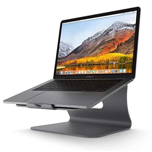 Bestand Aluminiumständer für Laptop und Macbook Desktop für Apple Macbook und alle Laptops Grau