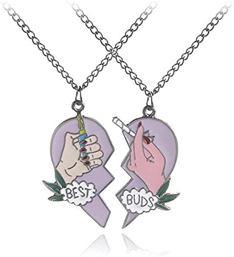 NC198 Creative Best Buds Two-Petal Love Mechero Colgante Collar Accesorios