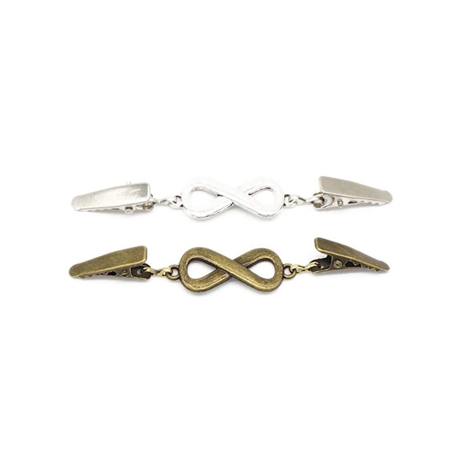 EvaGO 2 Pieces Retro Sweater Clips Cardigan Collar Clip Women Brooch Shawl Clips M02