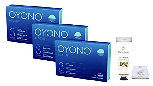 Oyono Nacht 3 x 24 Tabletten inklusive einer Handcreme ODER Handseife von Pharma Nature