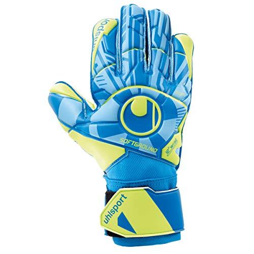uhlsport Unisex– Erwachsene Control Soft PRO Torwarthandschuhe, Fußballhandschuhe, Radar blau/Fluo gelb/schw, 8