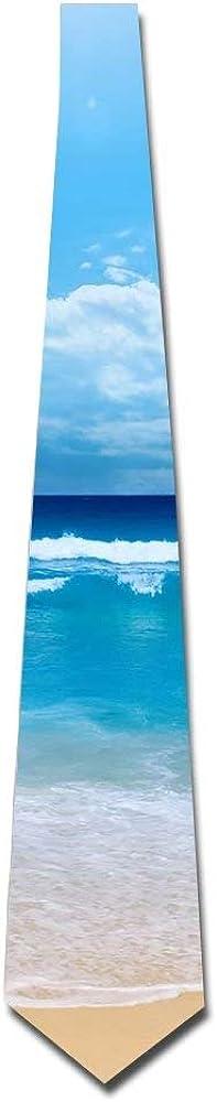 Men's Fashion tie Ocean Beach outlet Blue Size Max 83% OFF One Neck Tie Necktie