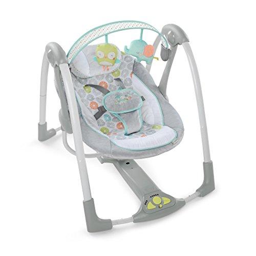 Ingenuity Swing 'n Go Portable Baby Swings - Hugs & Hoots (10247)