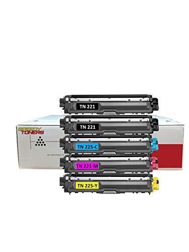 Speedy Toner Compatible Cartuchos de tóner TN221/TN225uso para Brother MFC-9130MFC-9130CW....