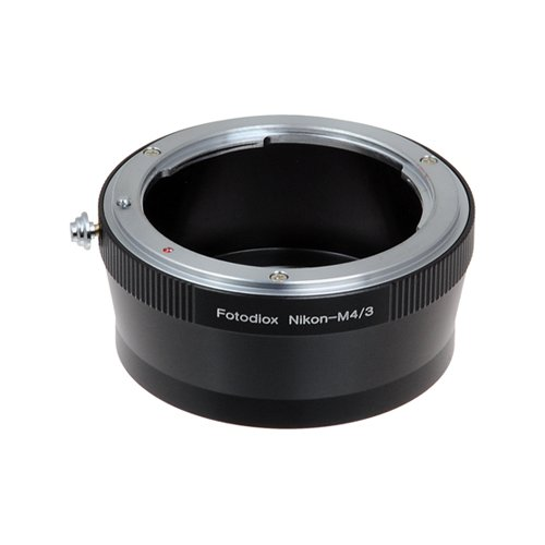 Fotodiox Lens Mount Adapter - Nikon Nikkor F Mount D/SLR Lens to Micro Four Thirds (MFT, M4/3) Mount Mirrorless Camera Body