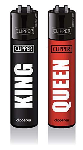 Dhobia King & Queen Clipper Feuerzeuge Partner Geschenke Jahrestag Geschenk His Queen Her King