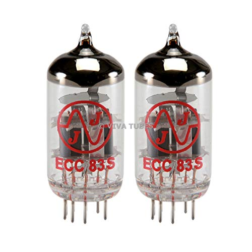 New Gain Matched Pair (2) JJ Electronics Tesla 12AX7 / ECC83-S Vacuum Tubes