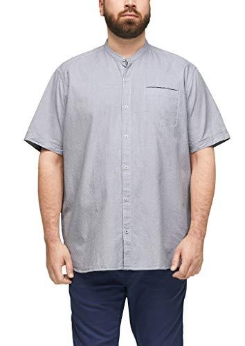 s.Oliver Big Size Herren Regular: Hemd mit Stehkragen white dobby 4XL