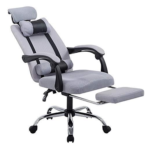 AimdonR Ligstoel, 150 graden ondersteunende hoge rugleuning, bureaustoel, arm, voetensteun, steunkussen, ademend nylon