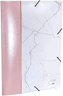 Pasta Aba/Elástico Dello A4 20mm PP Stone Rosa 0273.W.0025 28347