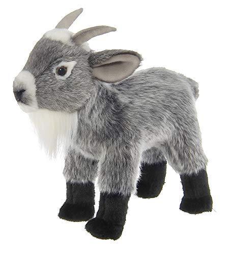 Bearington Garret Plush Gray Goat Stuffed Animal