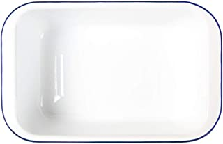 Bakeware Household Classic Simple Bread Enamel Baking Tray Enamel Baking Tray Are Suitable For The Oven (Color : White, Si...