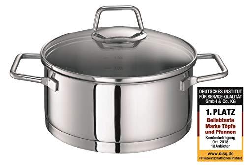 Schulte-Ufer Wega Stainless Steel Roasting Pot Size: 20cm, Stainless Steel, Stainless Steel, 20 cm