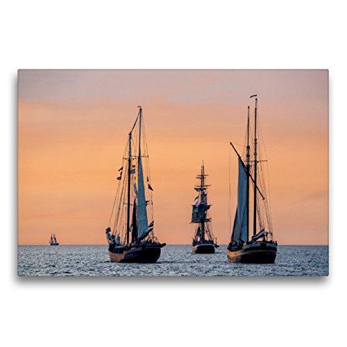 CALVENDO Cortavientos en el mar Báltico con luz de Noche, 75x50 cm
