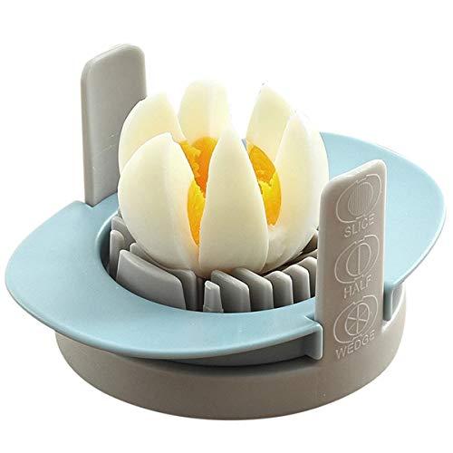 GuDoQi Eierschneider Spülmaschinenfest, Eierschneider Edelstahl mit 3 Funktionen, Rostfreier Schneidedraht, Küchenhelfer zum Gekochten Eiern, Pilzen, Salaten, Erdbeeren