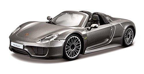 Bburago Porsche Porsche 918 Spyder Gris grau