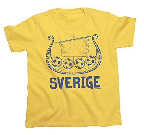 Viking Boat Sweden Copa Mundial 2018 Fútbol Kids Patriotic Retro