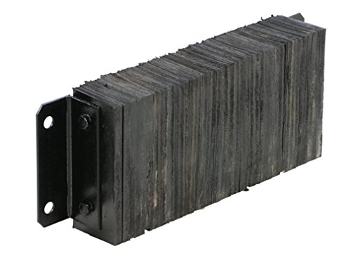 Vestil 1024-4.5 Horizontal Laminated Dock Bumper, Fabric Reinforced Rubber, Rectangular, 4 Holes, 10