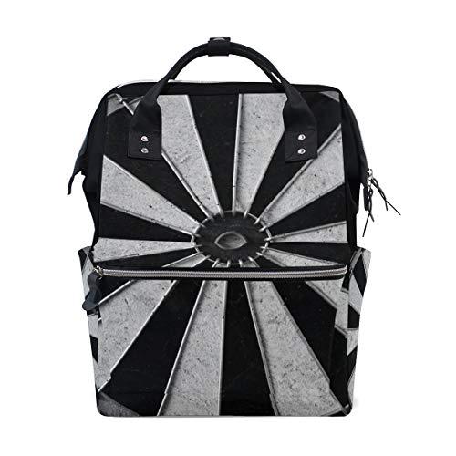 Frauen-beiläufiger Rucksack-Pfeil-Brettspiel-Beutel-weit geöffnete Arbeits-Doktor Style Daypack Segeltuch für Damen-Mädchen-Rucksack