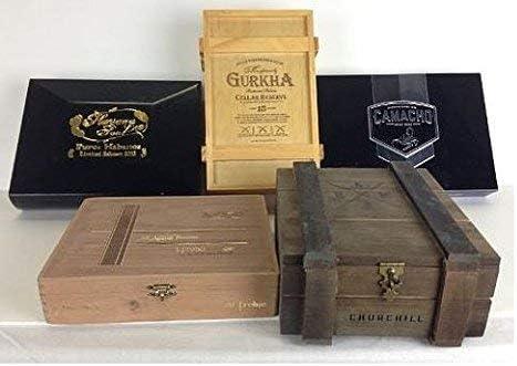 juqingshanghang1 Cigar Box OFFer 5 Premium Boxes Wooden Empty w Award