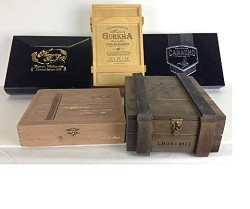 liuchenmaoyi Maleta de cigarros 5 Premium de Madera vacía con Cajas de Puros Diseño de folletos Humidor de cigarros.
