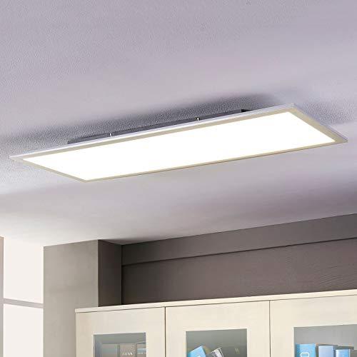 Lampenwelt LED Deckenleuchte (LED Panel) 'Livel' (Modern) in Weiß u.a. für Küche (1 flammig, A+, inkl. Leuchtmittel) - Lampe, LED-Deckenlampe, Deckenlampe, Küchenleuchte