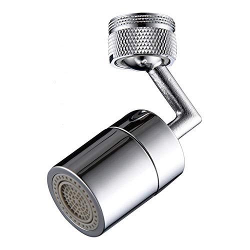 Grifo de filtro de salpicaduras universal grifo de cocina de salida giratoria de 720 °, aireador de filtro de grifo de grifo de fregadero ángulo grande 1