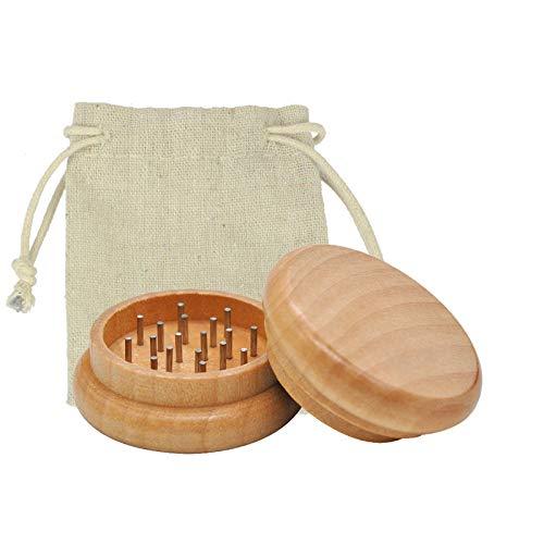 Wood Factory Grinder in legno, 2 pezzi, macinino per tè e spezie, in acciaio INOX